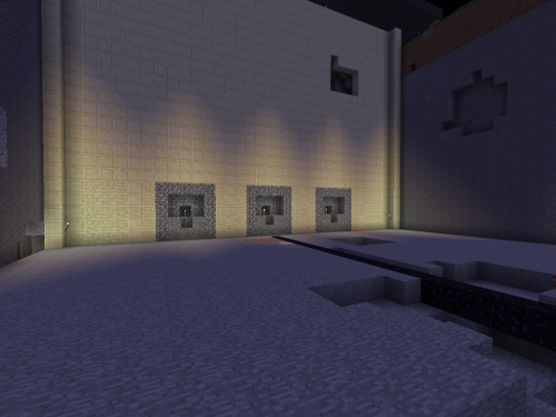 One wall up to the surface and 3 bellmouths of subways future.