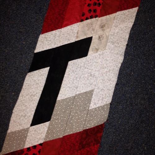 T, close up.